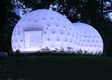 Ultra Light Dome Inflatable Tent , Inflatable Tea House Tent With Led Light