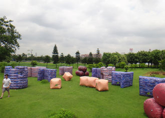 Outdoor Inflatable Paintball Area For Inflatable Paintball Game With PVC Material