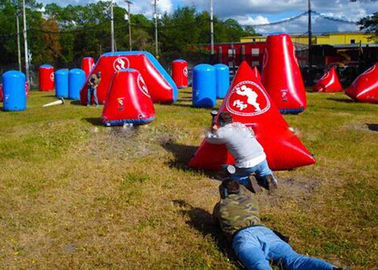 Inflatable PVC Bunkers Paintball For Adult And Kids , Paintball Tank Paintball Fields