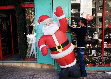 25 Ft / Customized Inflatable Advertising Products Giant Inflatable Santa For Shop