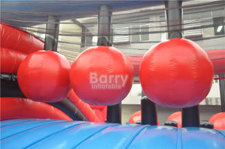 Plato PVC Tarpaulin Insane Sports Inflatable Obstacle Course Game Wrecking Ball Inflatable 5K