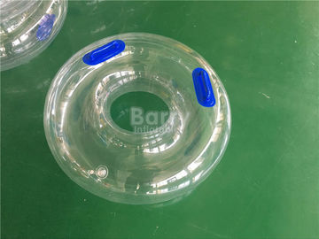 Transparent Single Tube , Amusement Float Toys Inflatable Water Swimming Ring