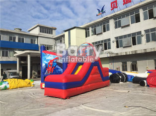Customized Size Spiderman Inflatable Combo Jumping Castle With Slide For Zoo Park