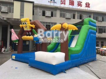 Spongebob Inflatable Combo Bounce House For Kids Jumping PVC Tarpaulin Material