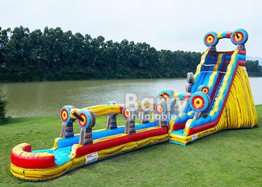 Animal Theme Inflatable Water Slides , Customized Size 25 FT Target Slip N Slide