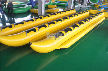 Yellow Inflatable Banana Boat PVC Tarpaulin Water Toys For Water Park