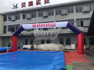 Outdoor Custom Inflatable Advertising Products , Inflatable Entrance Arch Strat Finish Line Archway