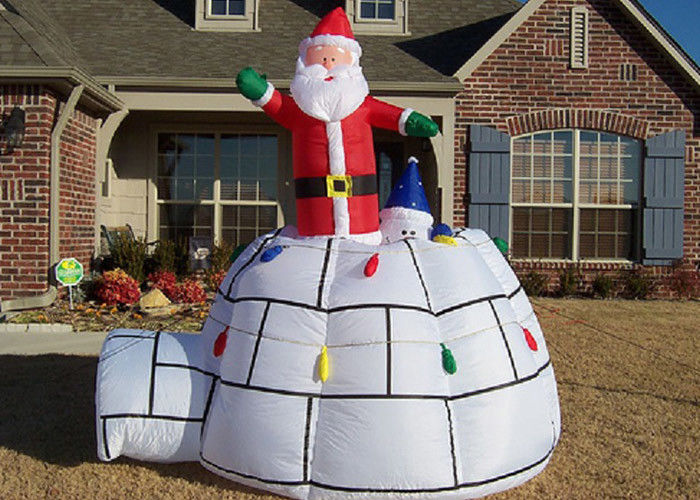 Christmas Decorations Advertising Inflatables Big Red Santa Claus And Tent