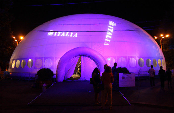 Giant Lighting Inflatable Tent , Inflatable Dome Tent Price
